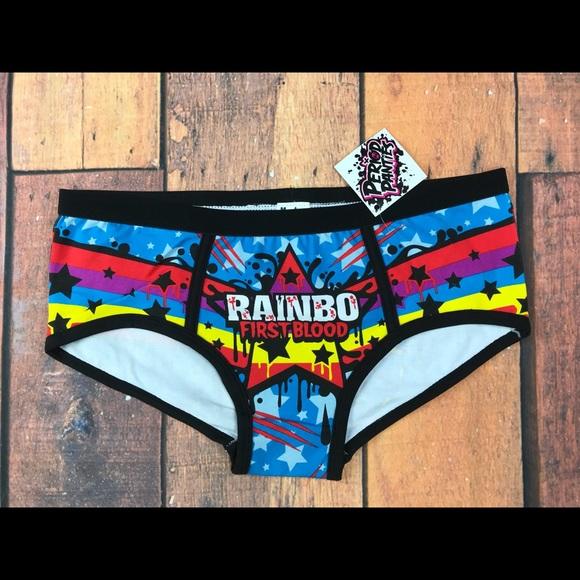 a7bf18efd1 New Harebrained Unicorn Rainbo First Blood Panties
